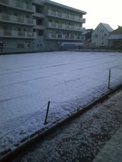 雪(氷)積もる朝